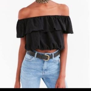Kimchi Blue Ruffle Off the Shoulder Top